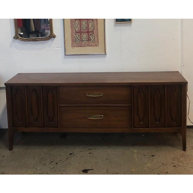 1960s Mid Century Modern Walnut Credenza For Sale - Image 12 of 13