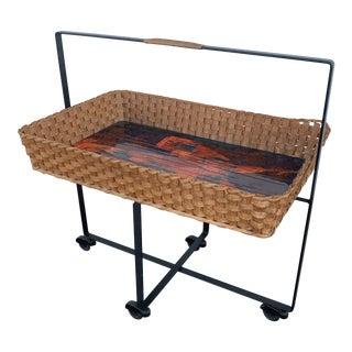 1950s Mid Century Modern Bar Cart For Sale