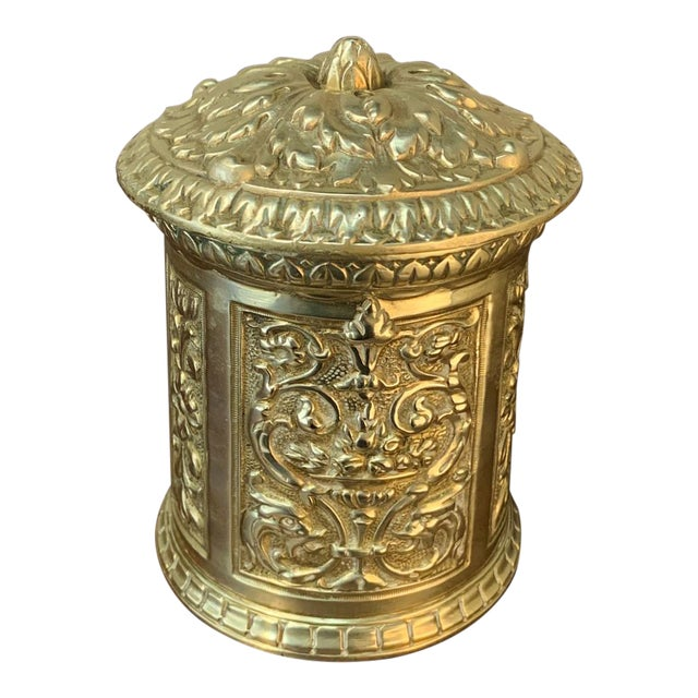 19th Century Bronze French Humidor For Sale