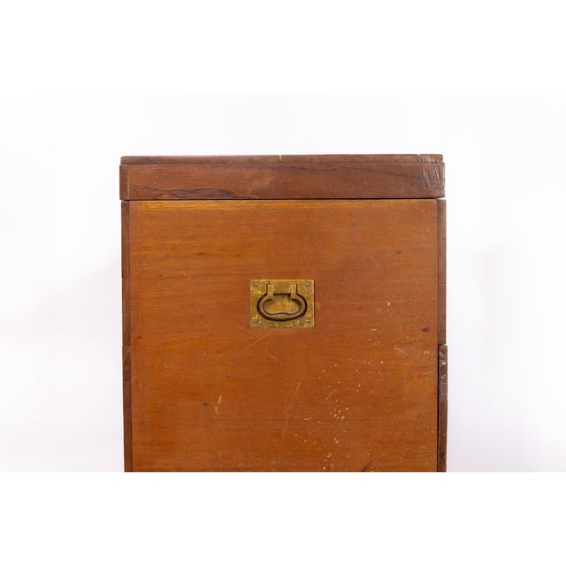 Antique 19th C. Wooden Military Field Desk For Sale - Image 10 of 11