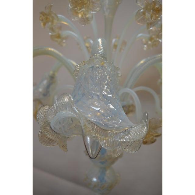 1950s Murano Opaline Glass Floor Lamp For Sale - Image 5 of 10