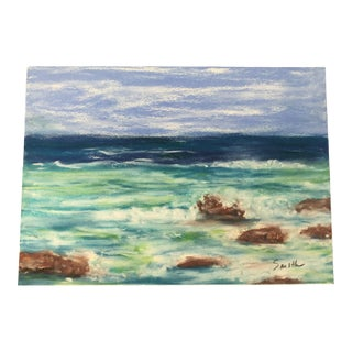 "Nancy Smith ""About the Rocks"" Original Pastel Painting For Sale"