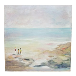 1980s Beach Painting For Sale