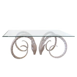 Sculptural Ibex Gazelle or Ram's Head Dining Table Bases For Sale