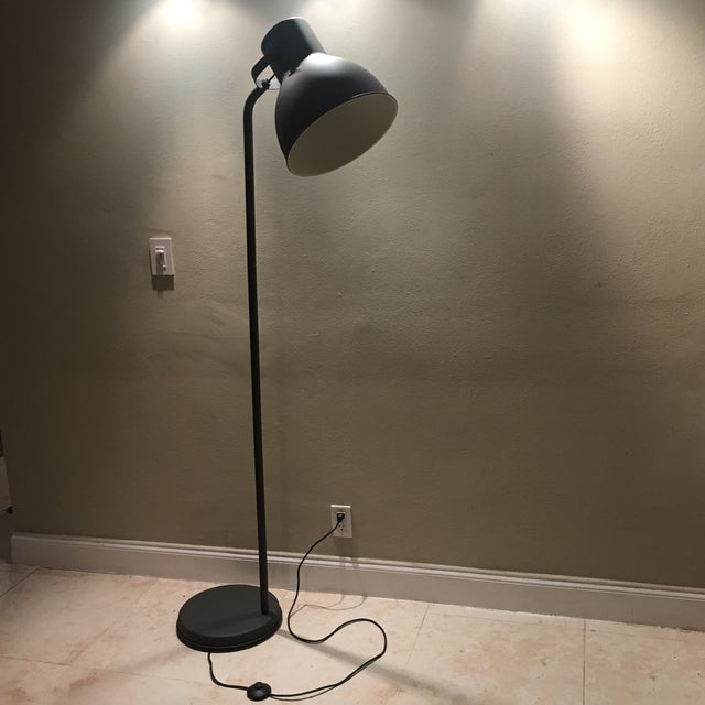 Dark Bronze Industrial Floor Lamp - Image 3 of 6