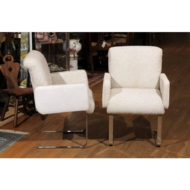 "Pace Pair of ""Lugano"" Chairs by Mariani for Pace For Sale - Image 4 of 8"