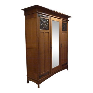20th Century Arts and Crafts Oak Wardrobe