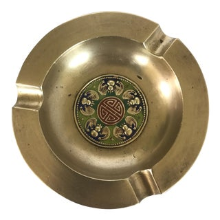 Brass Cloisonné Ashtray