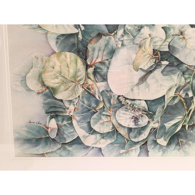 Celadon Original Framed Watercolor Painting by Anna Chen For Sale - Image 8 of 9