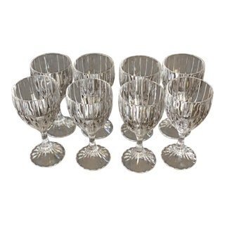 Crystal Water Goblets - Set of 8
