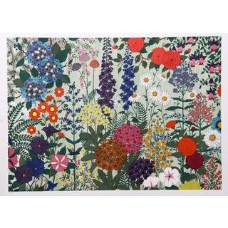 Jack Hofflander, Flowers, Serigraph