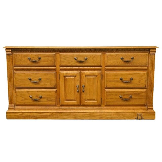 "American Drew Country French Oak 72"" Triple Door Dresser For Sale"
