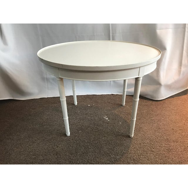 Maison Jansen Style White Wooden Side or Coffee Table - Image 6 of 6