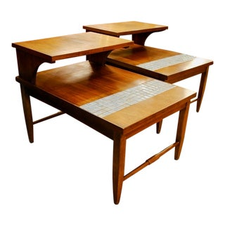 Mid Century Modern Lane 'Monte Carlo' Step Tables -A Pair For Sale