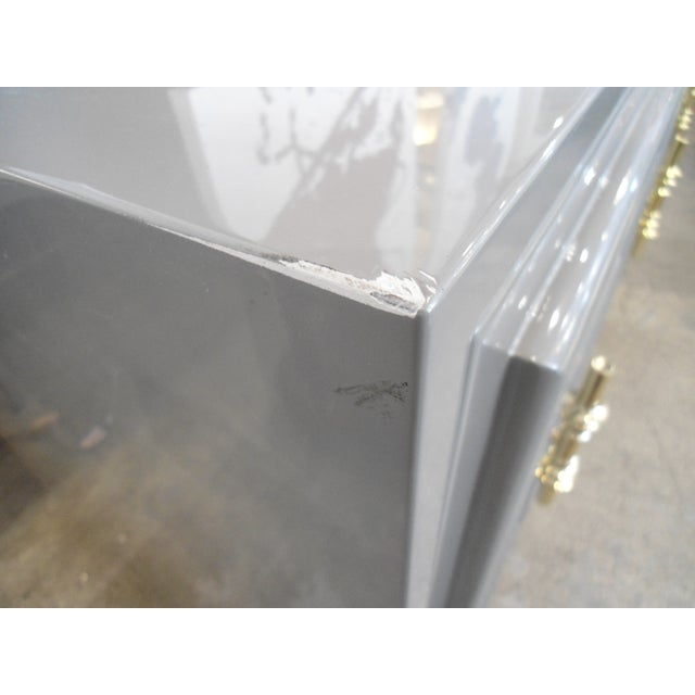 ModShop Art Deco Gray Lacquer W/ Gold Pulls Sideboard For Sale - Image 9 of 9