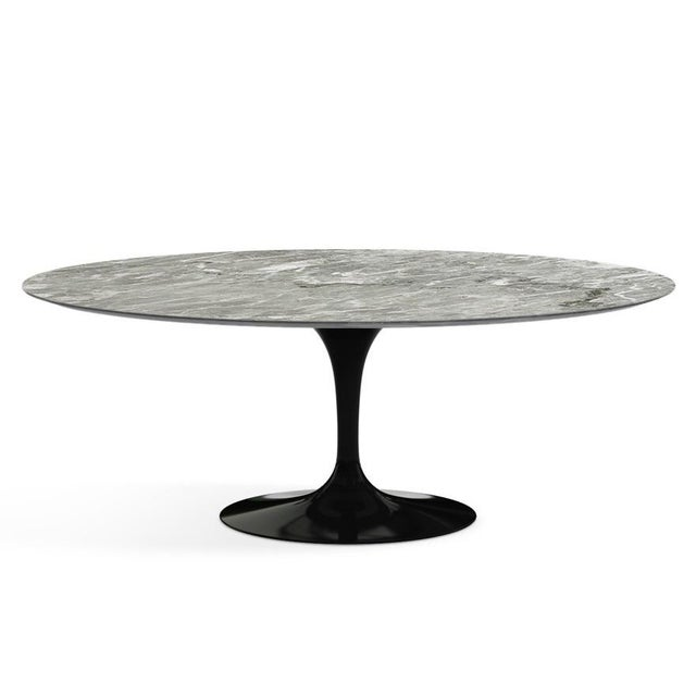 Wood Eero Saarinen for Knoll Dining Table in Black Marble For Sale - Image 7 of 11