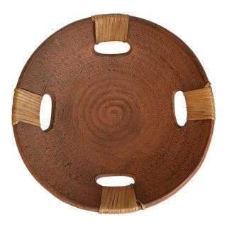 Bamboo Handle Clay Bowl