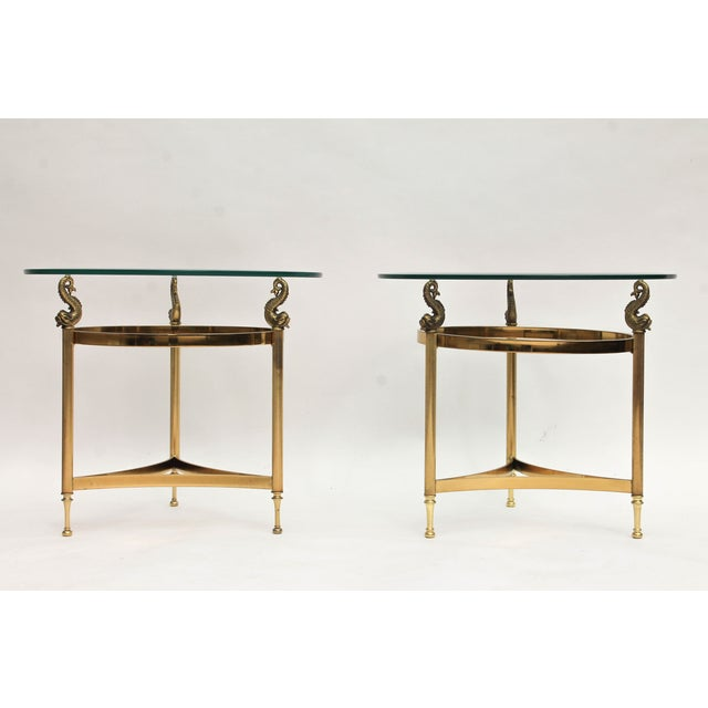 DIA Brass & Glass Side Tables - A Pair - Image 2 of 9