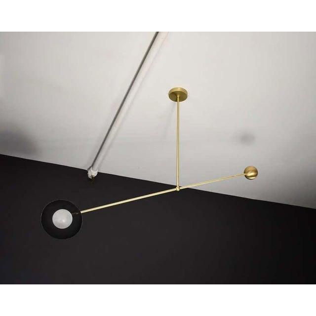 Mid-Century Modern Molto Asymmetrical Pendant Light in Brass & Enameled Mesh by Blueprint Lighting For Sale - Image 3 of 8