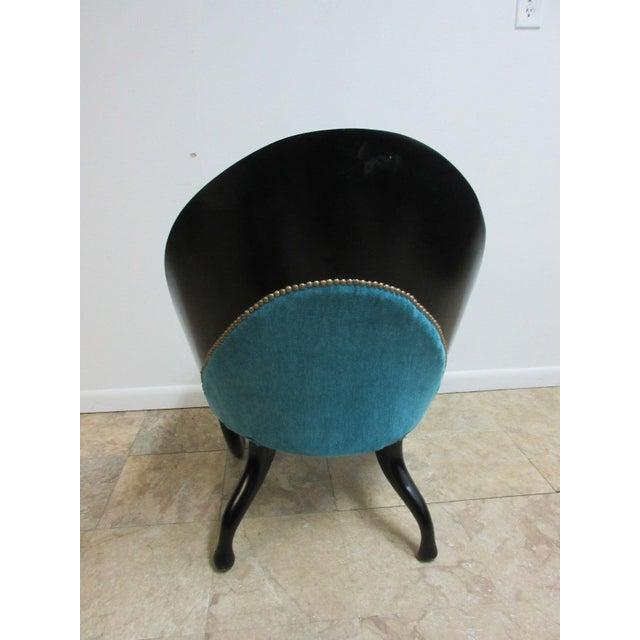 Hollywood Regency Style Modern Scoop Back Fireside Lounge Club Chair For Sale In Philadelphia - Image 6 of 10