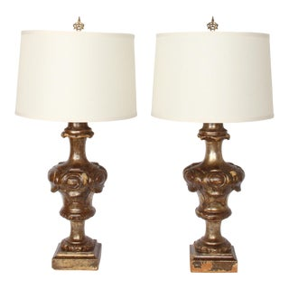 "19th C. Italian ""Portapalmette"" Urns Converted to Table Lamps - a Pair For Sale"