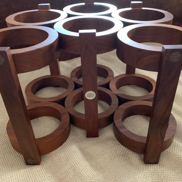 Brown Vintage Kustom Kraft Walnut Wine Rack For Sale - Image 8 of 12