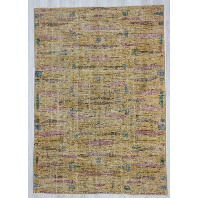 Vintage Turkish Art Deco Wool Rug - 6′11″ × 9′10″ - Image 2 of 4