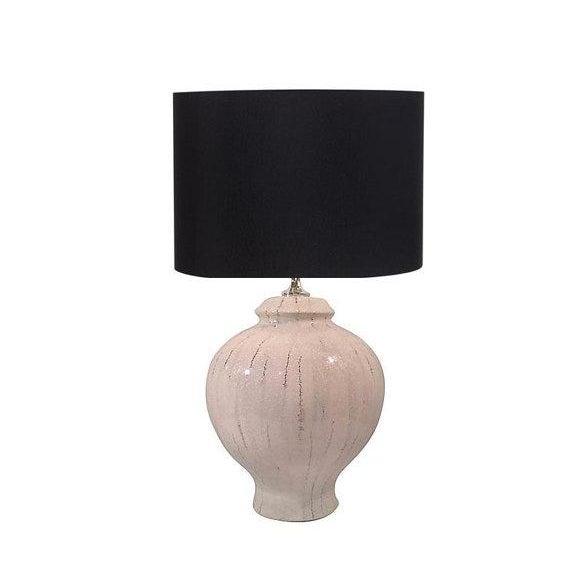 White Ceramic Lamp With Craqueleur Finish - Image 1 of 4