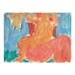 'Seated Nude' by Victor Di Gesu; Fauve, California Post-Impressionist, Louvre, Lacma, Académie Chaumière For Sale