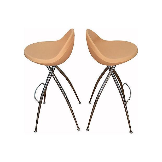 Roberto Foschia Italian Midj Bar Stools - Set of 4 For Sale - Image 4 of 8
