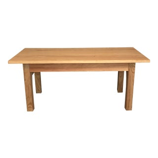 Arts and Crafts Custom Crafted Pine Coffee Table For Sale