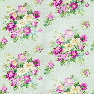 1990s Vintage Bassett McNab Ashbury Floral Fabric For Sale