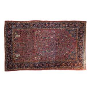 """Antique Kashan Rug - 4'3"""" X 6'11"""" For Sale"""