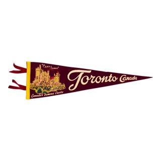Mid Century Toronto Pennant Flag For Sale