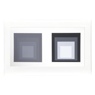 Josef Albers - Portfolio 1, Folder 23, Image 2 Framed Silkscreen For Sale