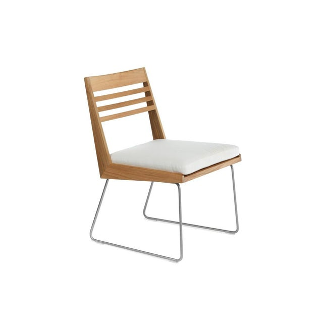 Contemporary Summit Furniture Boomerang Dining Side Chair For Sale - Image 3 of 3
