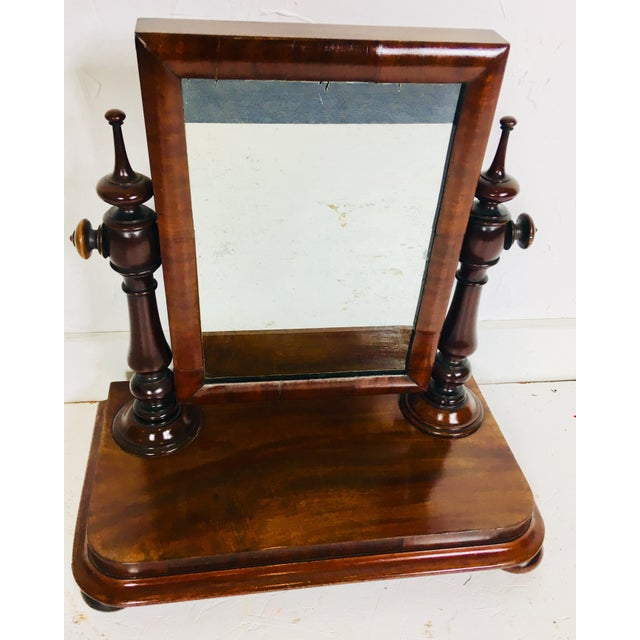 Red 19th Century Antique Dresser Mirror For Sale - Image 8 of 8