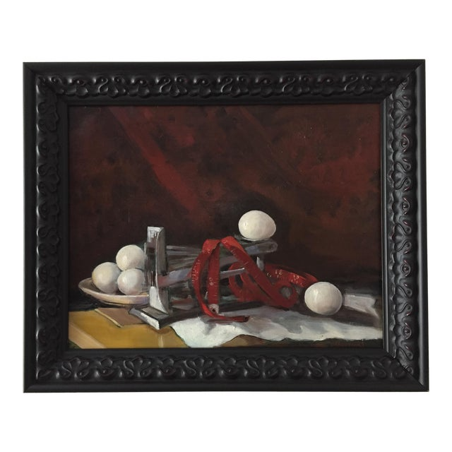 """""""Measurement"""" Original Still Life Oil Painting by Marina Movshina For Sale"""