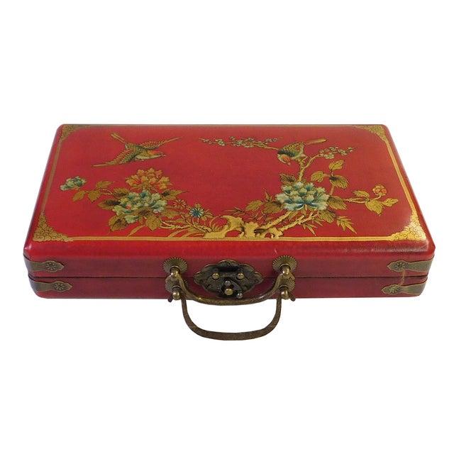 Chinese Red Rectangular Box & Abacus - Image 2 of 3