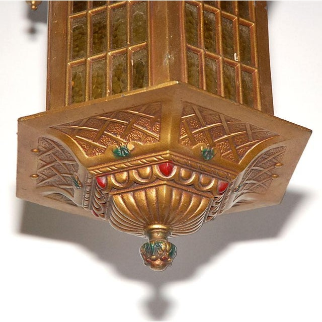 Gold Gothic Style Hall Lantern For Sale - Image 8 of 9