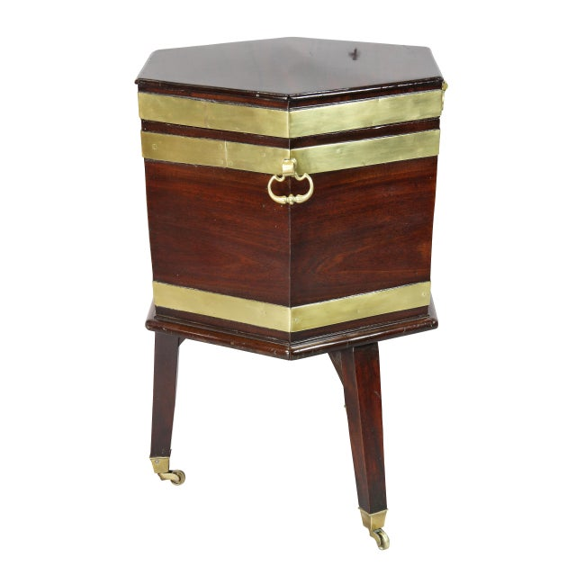 Wood George III Mahogany and Brass Mounted Celleret For Sale - Image 7 of 11