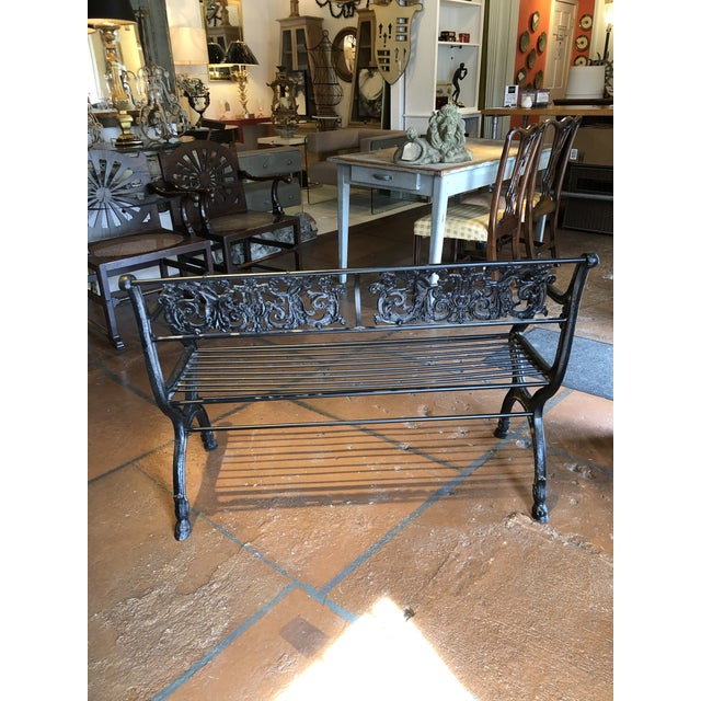 Neoclassical Neoclassical Iron Bench by German Architect Fred Shingle For Sale - Image 3 of 13