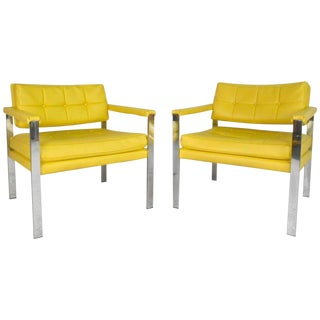 Mid-Century Modern Milo Baughman Arm Chairs For Sale