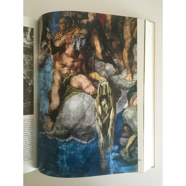 """Blue """"The Complete Work of Michelangelo """" Slip Case Box Monumental Xtra Large Collector Vintage 1965 1st Edtn Book For Sale - Image 8 of 11"""