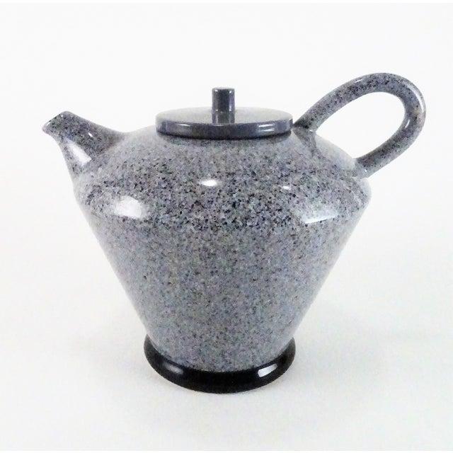 1980s Baldelli Italian Speckle Glaze Teapot For Sale - Image 13 of 13