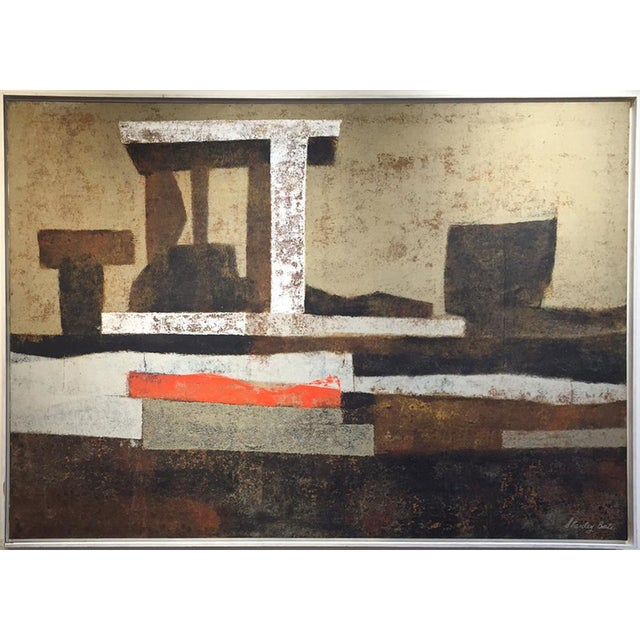 Abstract Stanley Bate, Oracle Painting, Circa 1970 For Sale - Image 3 of 6