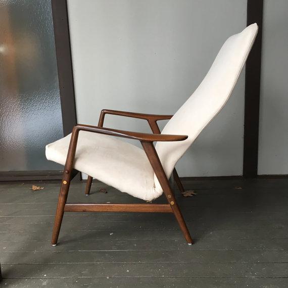 Alf Svensson Danish Reclining Lounge Chair & Ottoman - Image 4 of 7