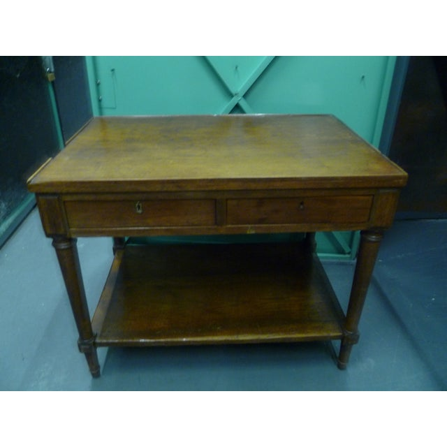 Antique French Mahogany Side Tables - Pair - Image 4 of 11