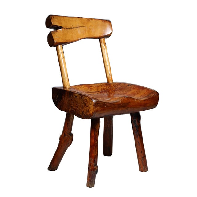 1940s Primitive Handmade Hickory Side Chair - Image 1 of 6