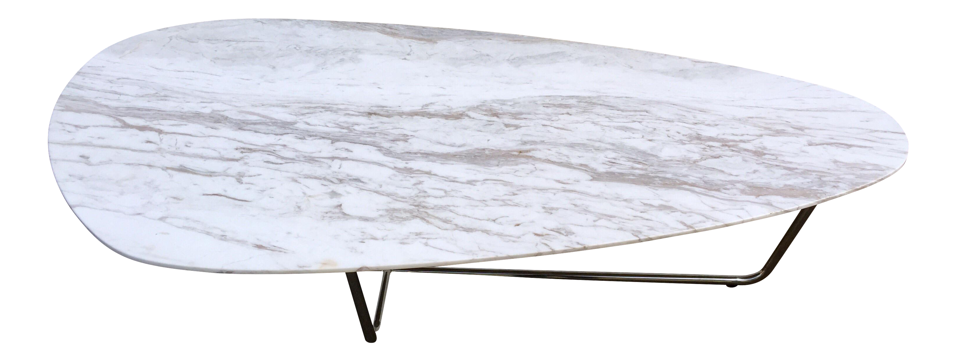 Mario Cellini Oval Marble Coffee Table